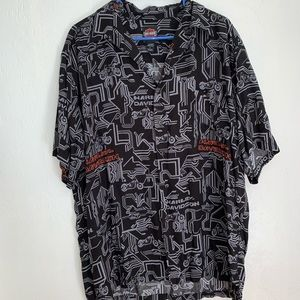 Harley Davidson men's geometric shirt L